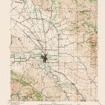 Old Topographical Map – Hollister California 1940 – Where Is Hollister California At On A Map