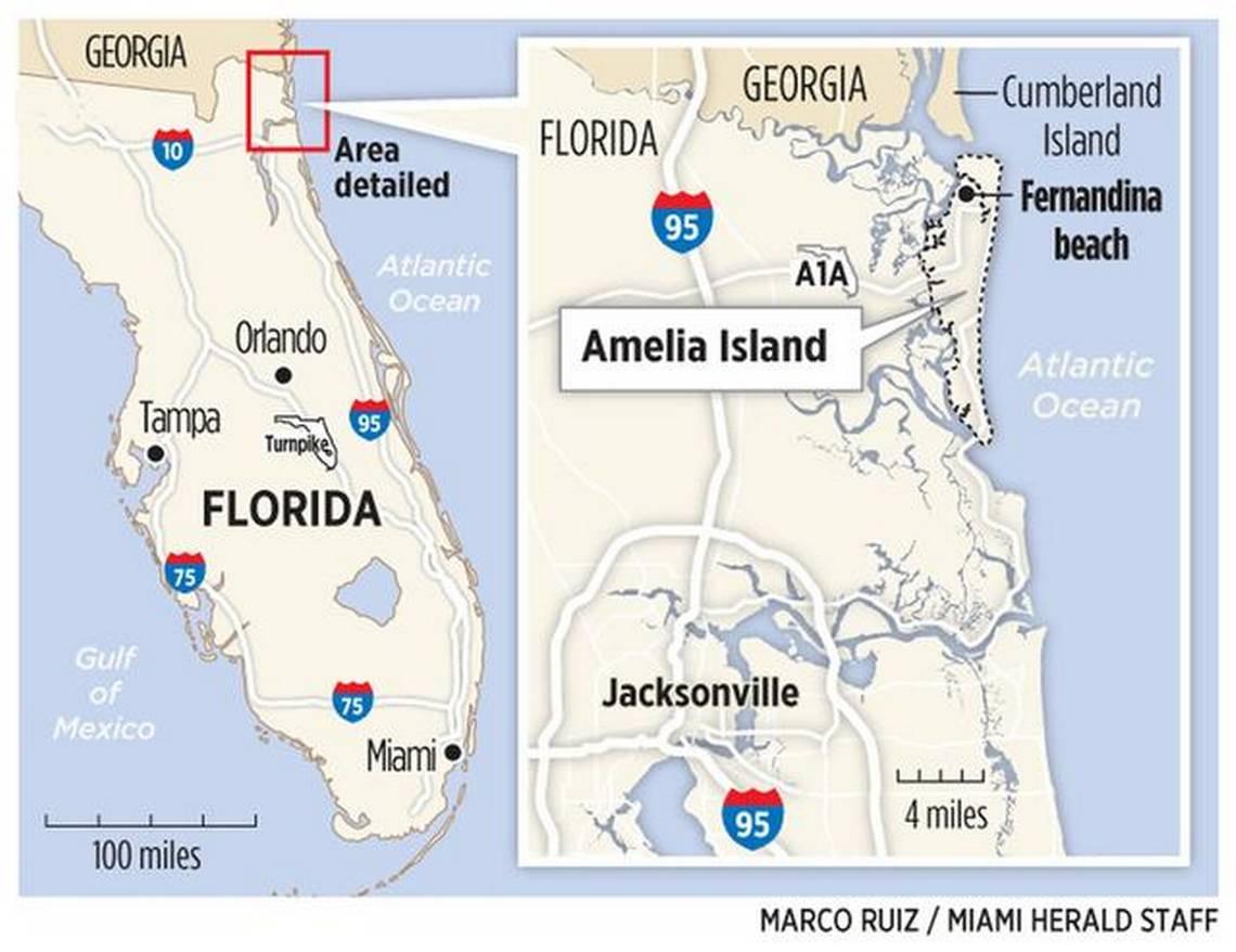On Florida's Amelia Island, A Mix Of Tranquility And History   Miami - Amelia Island Florida Map