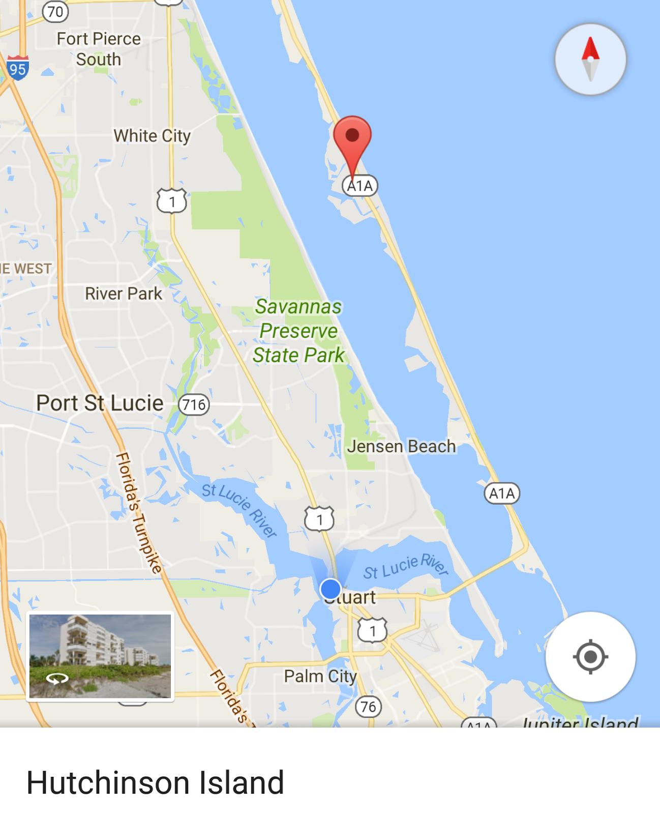 Onapua..the Sailing Vessel: Hutchinson Island - Hutchinson Beach Florida Map