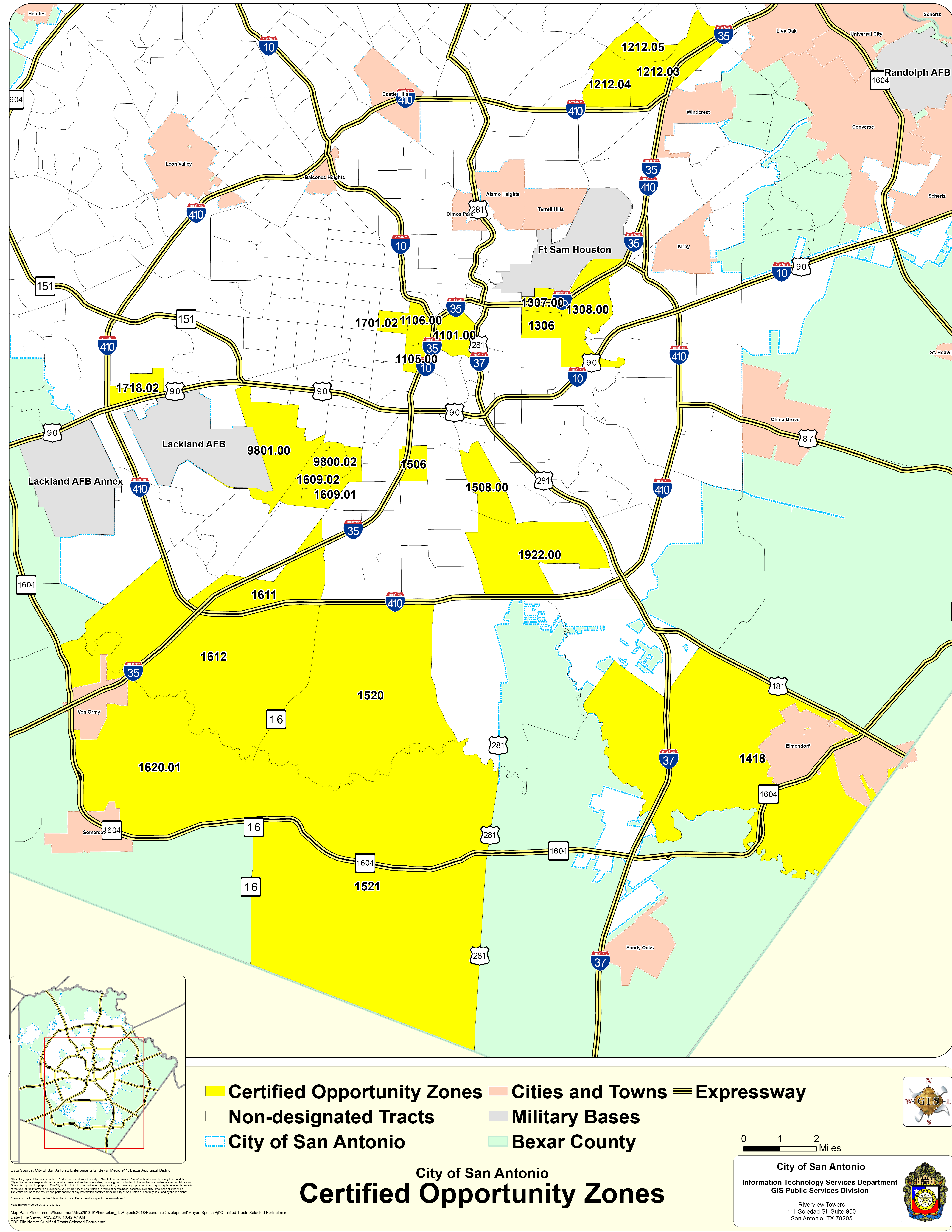 Opportunity Zones - Texas Opportunity Zone Map