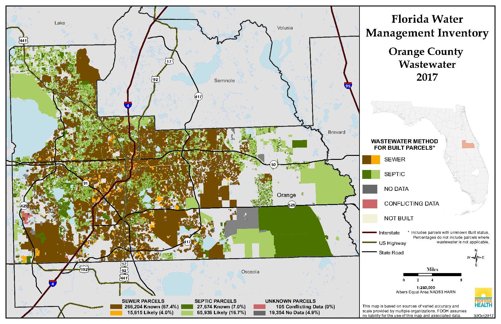 Orange Florida Water Management Inventory Summary | Florida - Orange County Florida Parcel Map