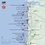 Oregon Coast Trail Northern Map Reference Camping California Coast   Camping Central California Coast Map