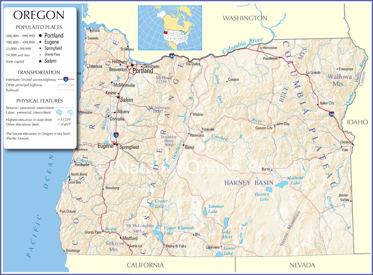 Oregon Map Maps Of California Road Map Of California And Oregon - Road Map Oregon California