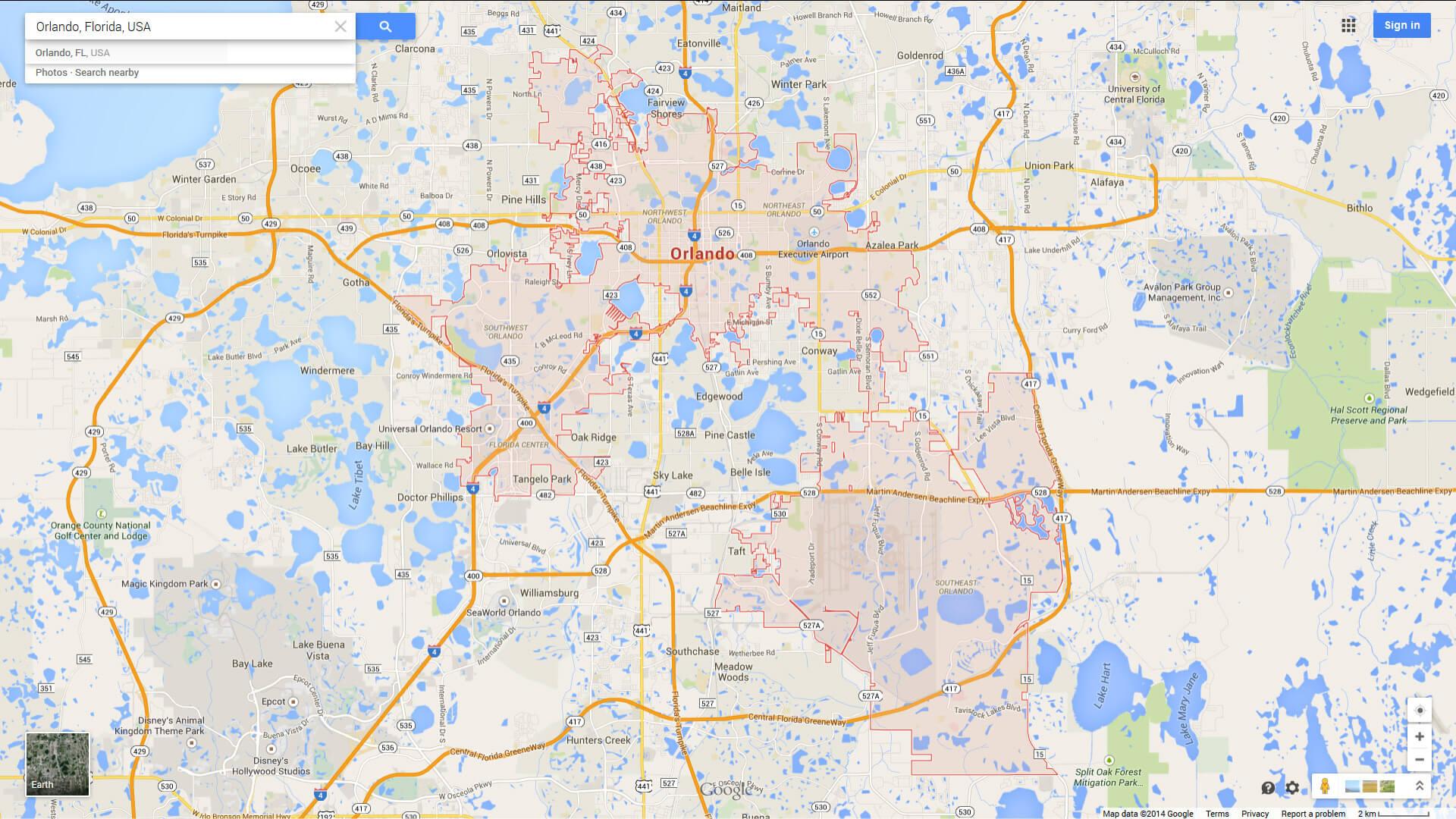 Orlando, Florida Map - Detailed Map Of Orlando Florida