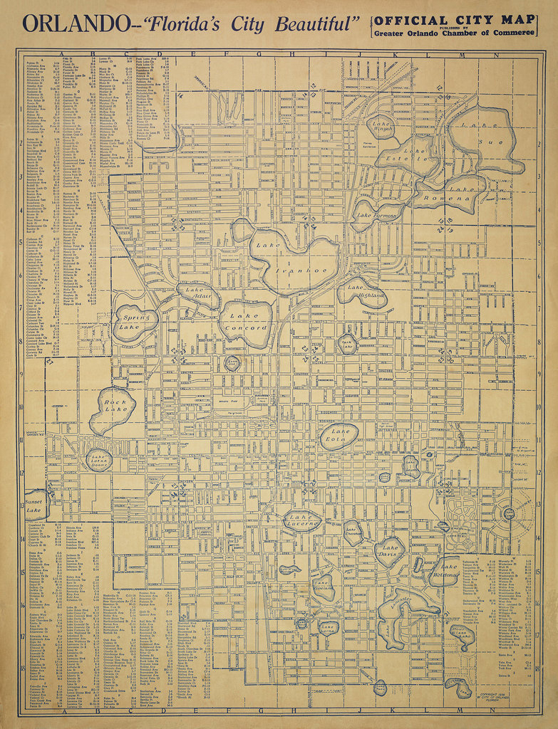 Orlando, Florida Street Map, 1936 | A Street Map Of Orlando,… | Flickr - Street Map Of Orlando Florida