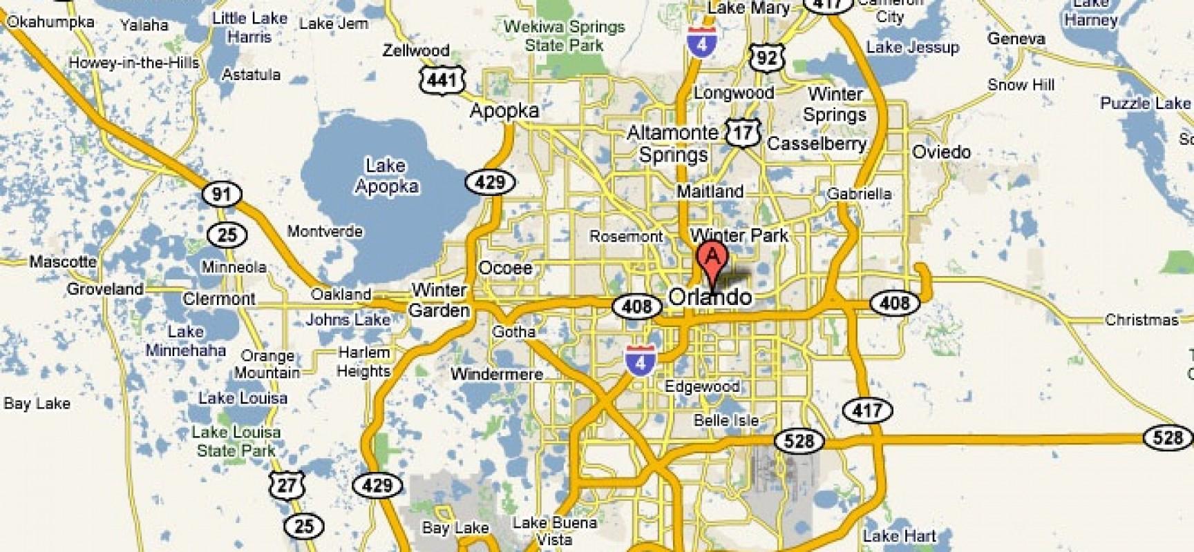 Orlando, Florida – Usa | Travel Featured - Road Map Of Orlando Florida
