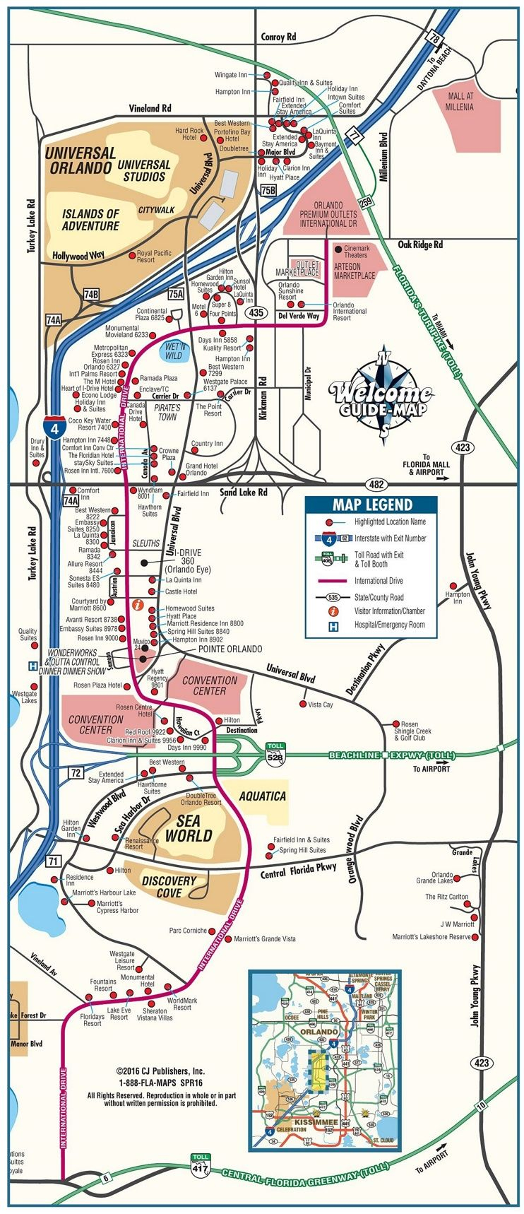 Orlando International Drive Tourist Map | Travel In 2019 | Pinterest - Map Of Orlando Florida International Drive