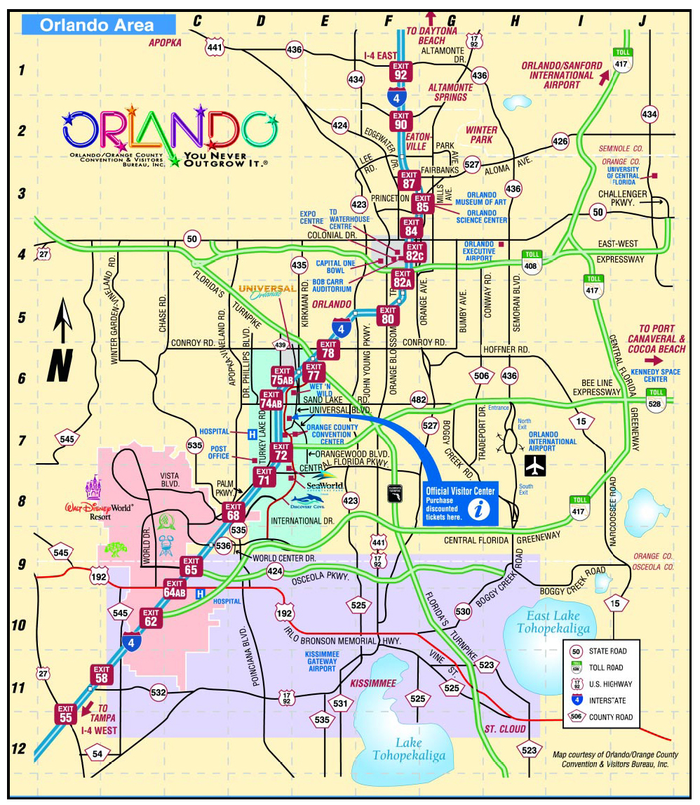 Orlando Map Great Map Of Orlando Theme Parks Inspirational Map Of - Orlando Florida Attractions Map