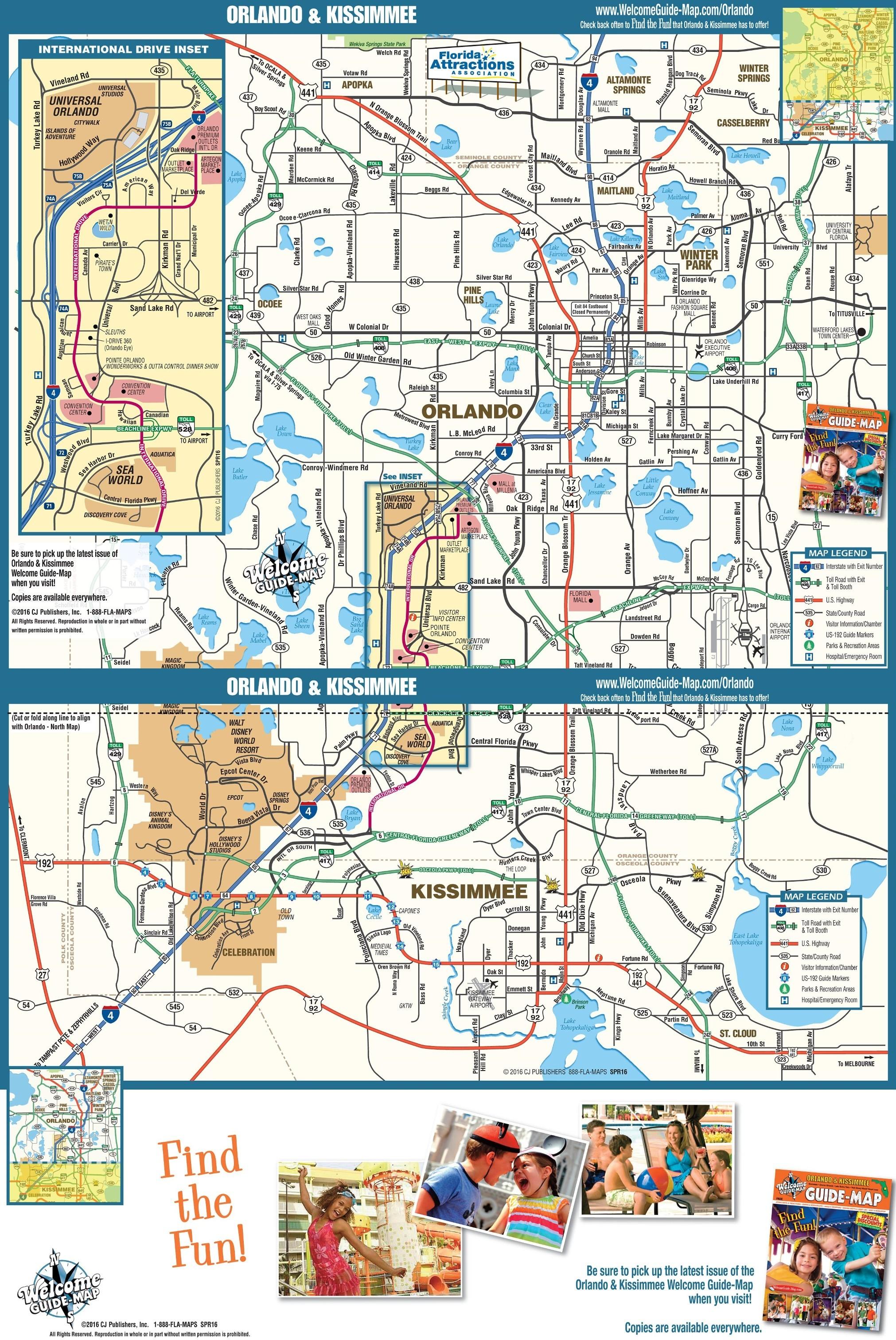 Orlando Map Orlando Florida Attractions Map 15 Map Of Central - Central Florida Attractions Map