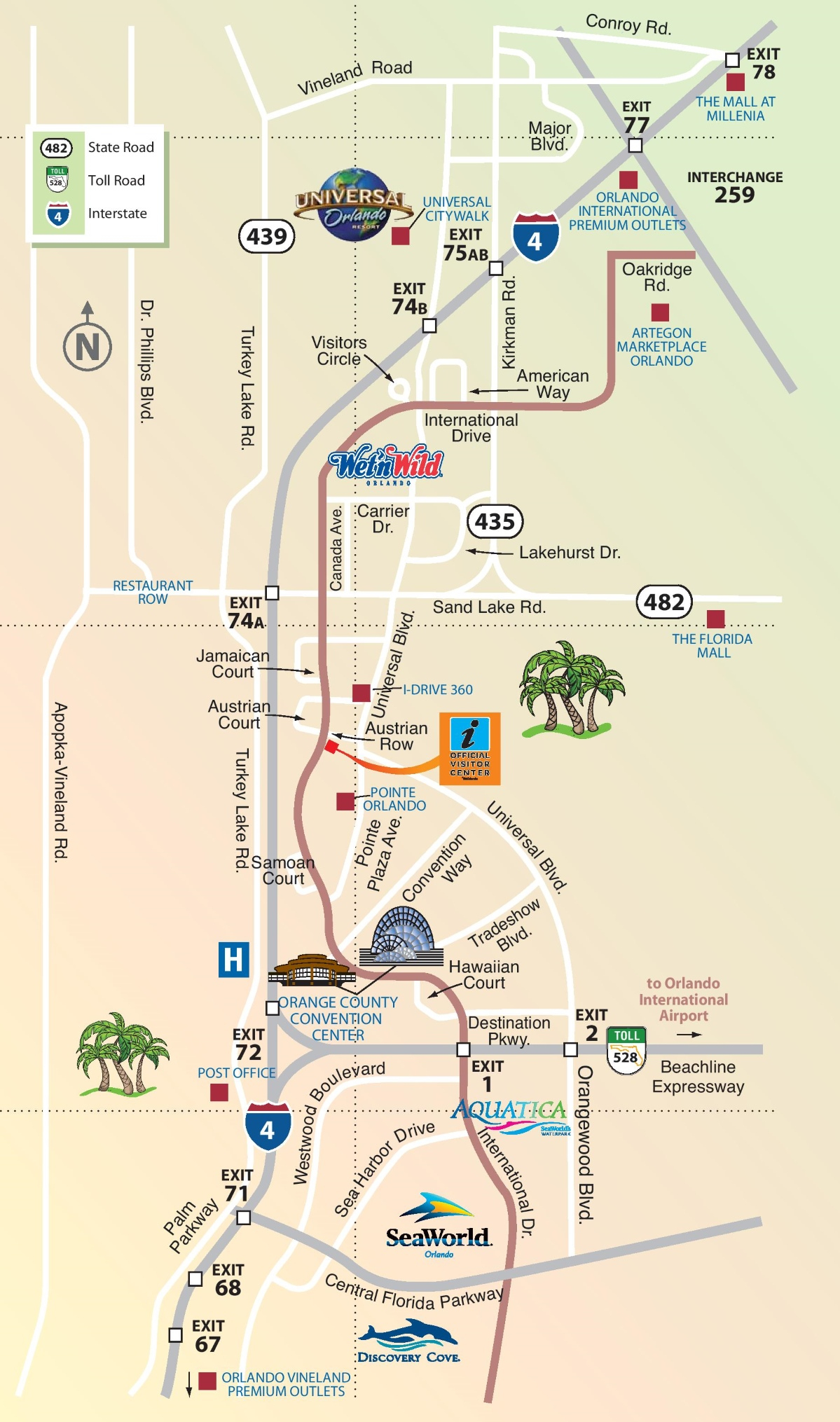 Orlando Maps | Florida, U.s. | Maps Of Orlando - Map Of Orlando Florida International Drive