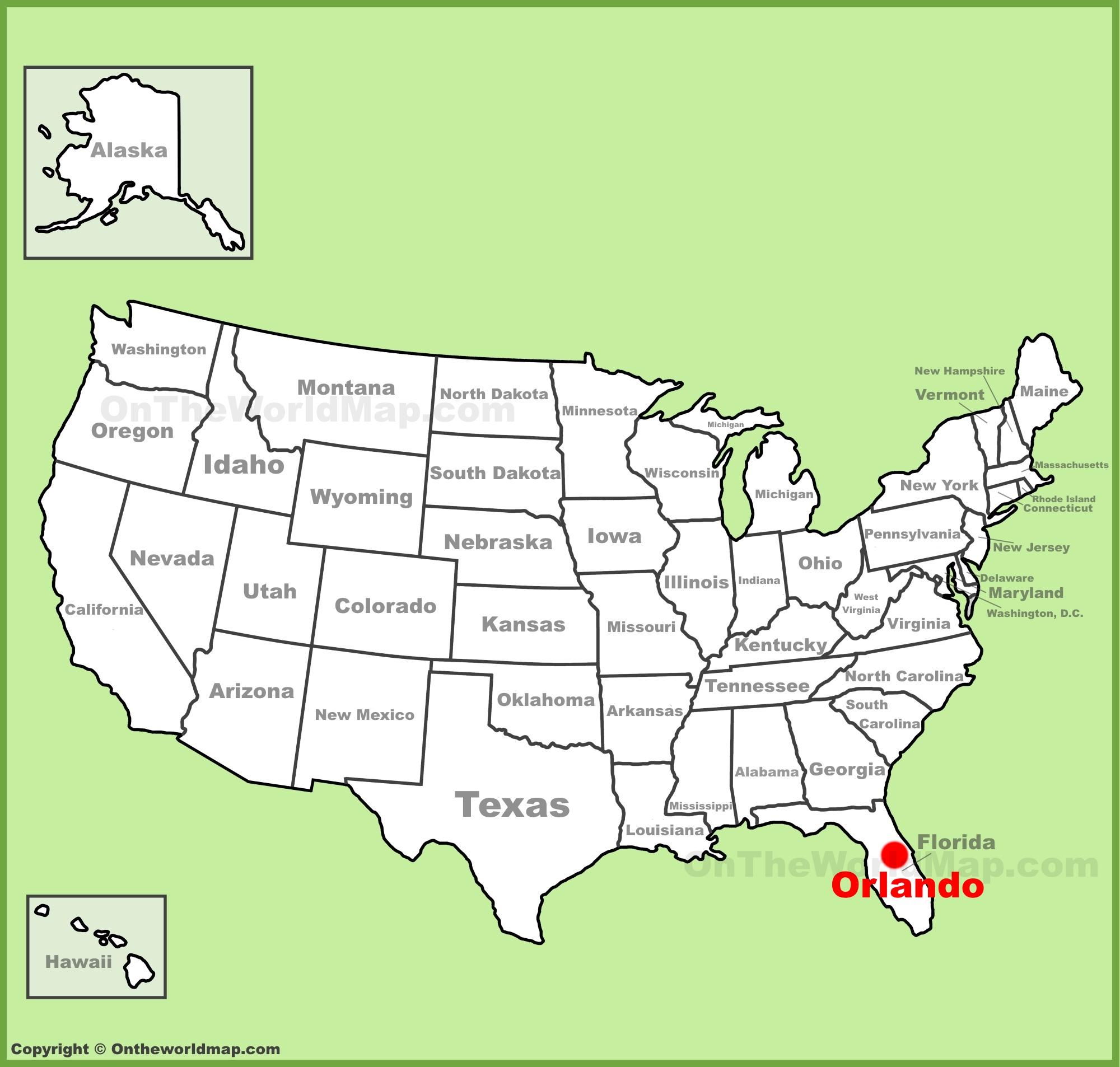 Orlando Maps   Florida, U.s.   Maps Of Orlando - Orlando Florida Location On Map