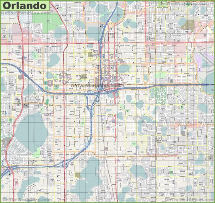 Tourist Map Of Orlando Florida
