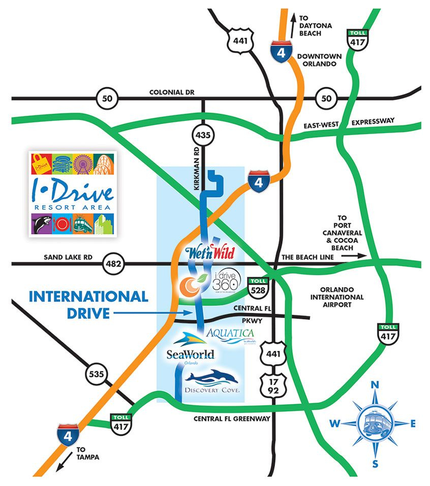Orlando Maps - Maps Of I-Drive - International Drive Resort Area - Map Of Orlando Florida International Drive