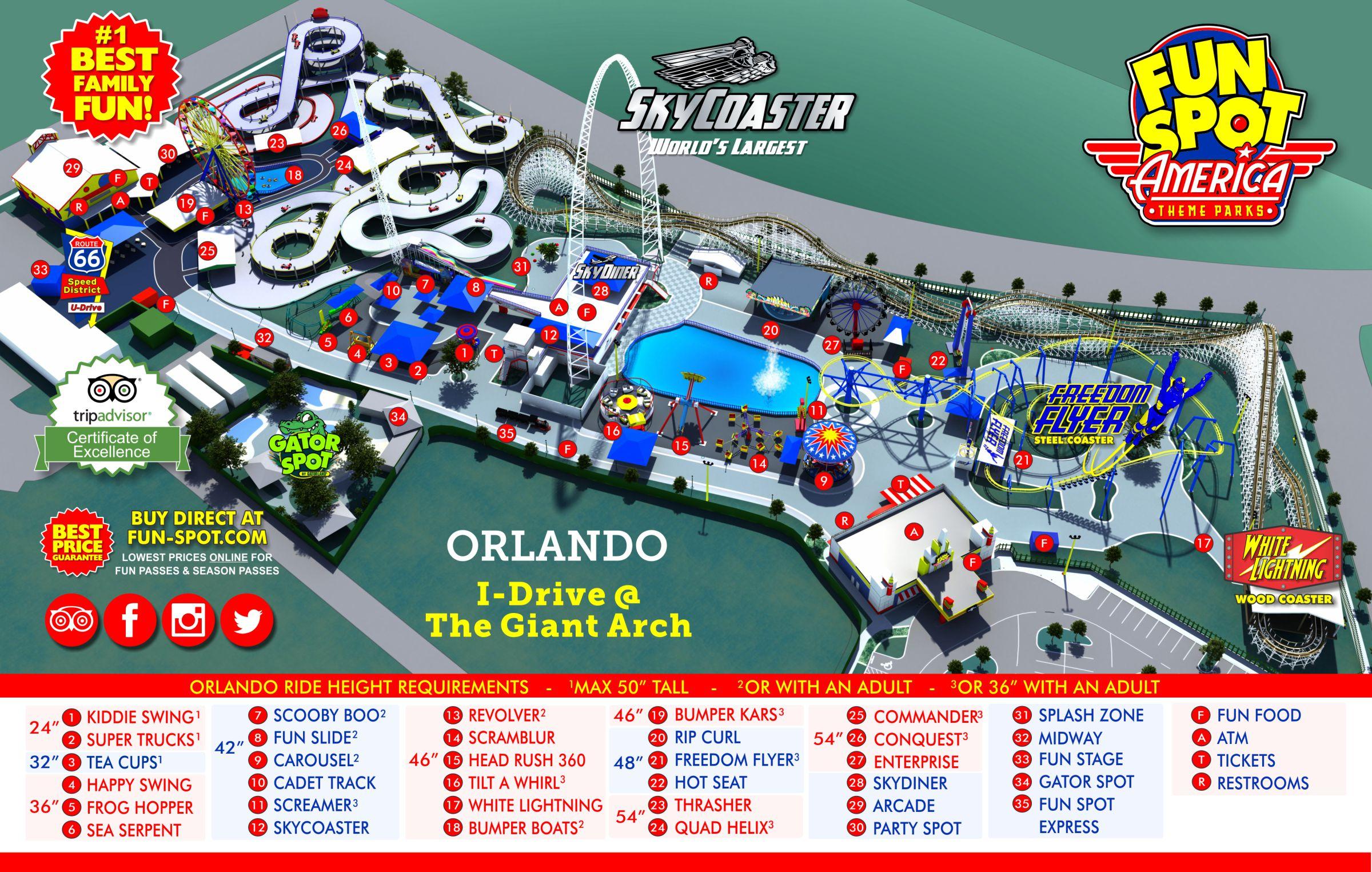 Orlando Park Map   Theme Park Map - Orlando Florida Parks Map