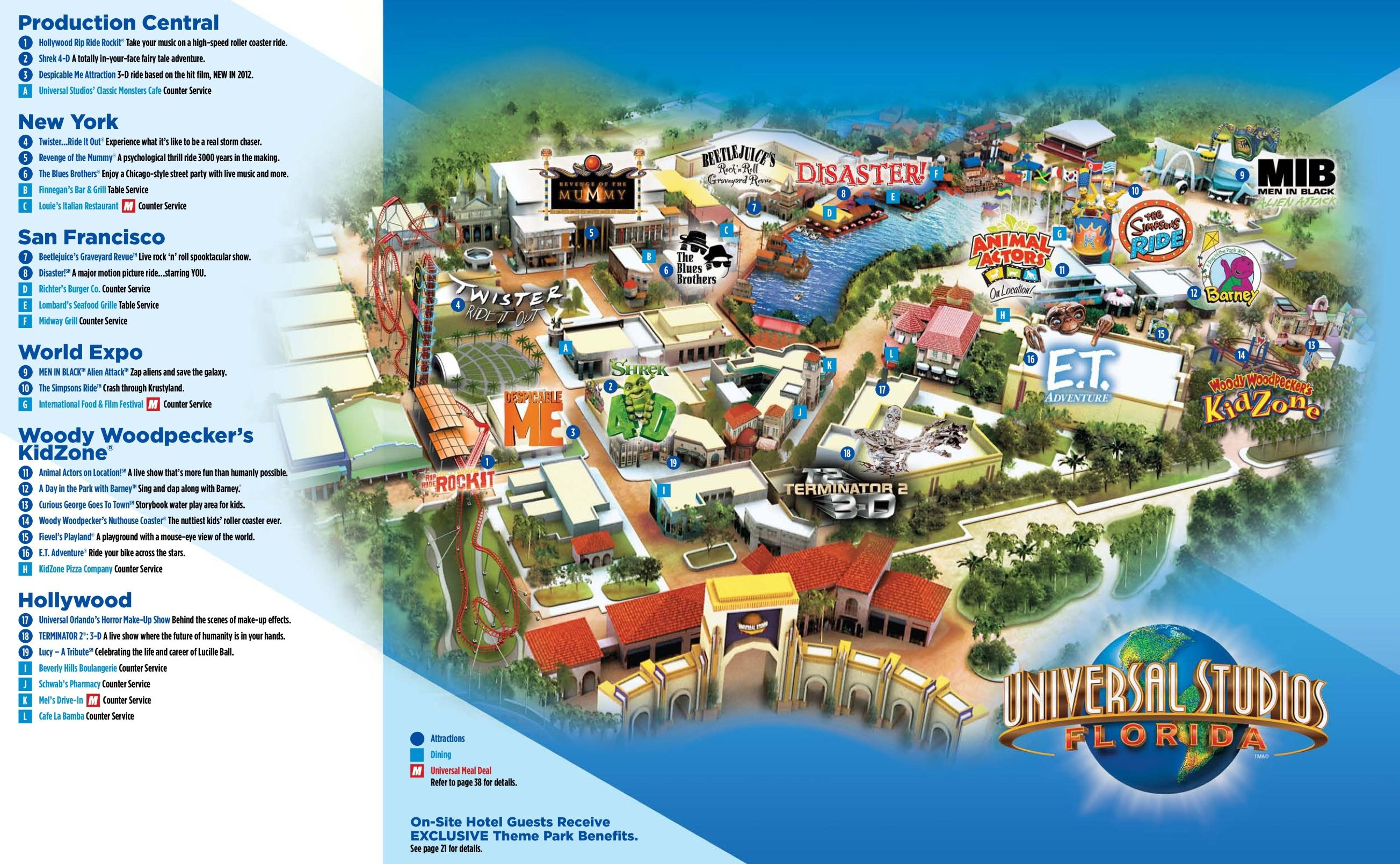 Orlando Universal Studios Florida Map | Travel: Orlando, Fl - Universal Studios Florida Hotel Map