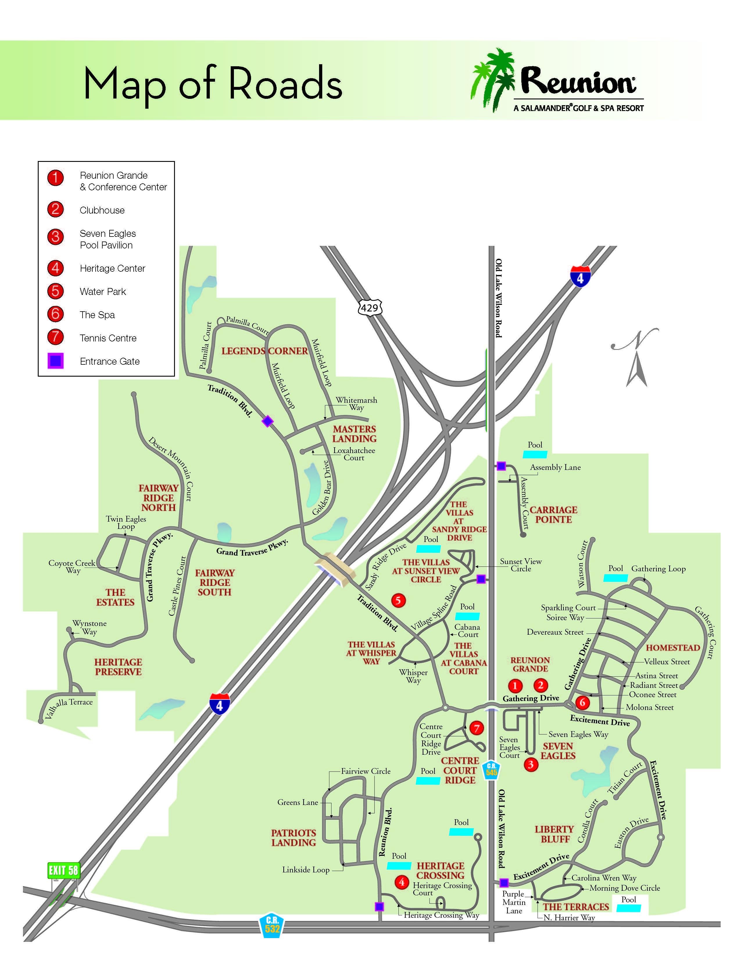 Orlando Vacation | Reunion Resort - Location & Directions |Family - Reunion Florida Map