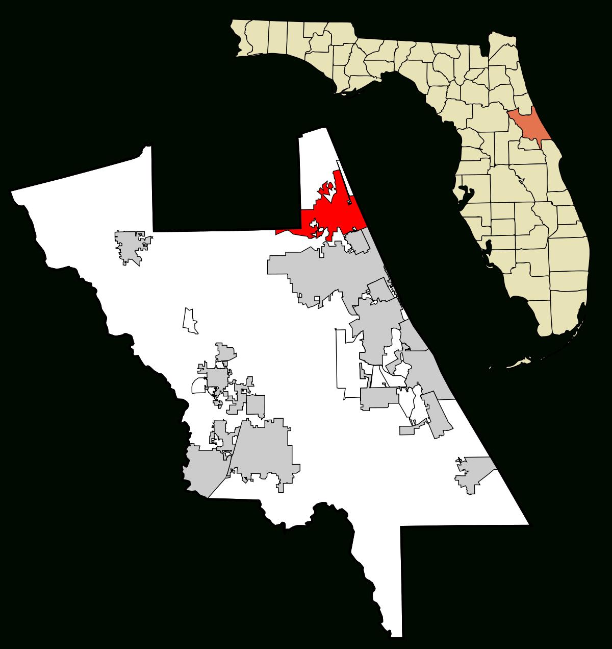 Ormond Beach, Florida - Wikipedia - Street Map Of Ormond Beach Florida