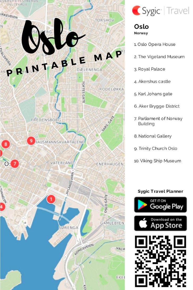 Oslo Printable Tourist Map | Free Tourist Maps ✈ | Pinterest - Printable Map Of Oslo Norway