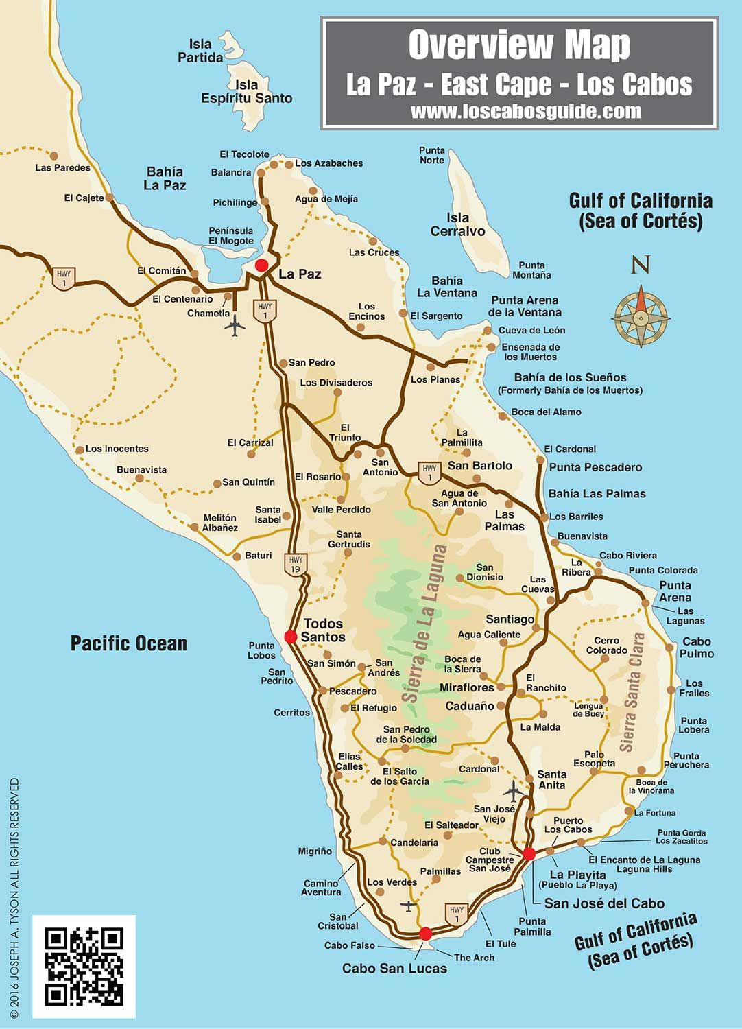 Overview Map Of Southern Baja | Travel | Pinterest | Cabo, Cabo San - Baja California Real Estate Map