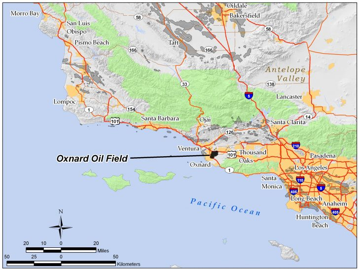 Oxnard California Map