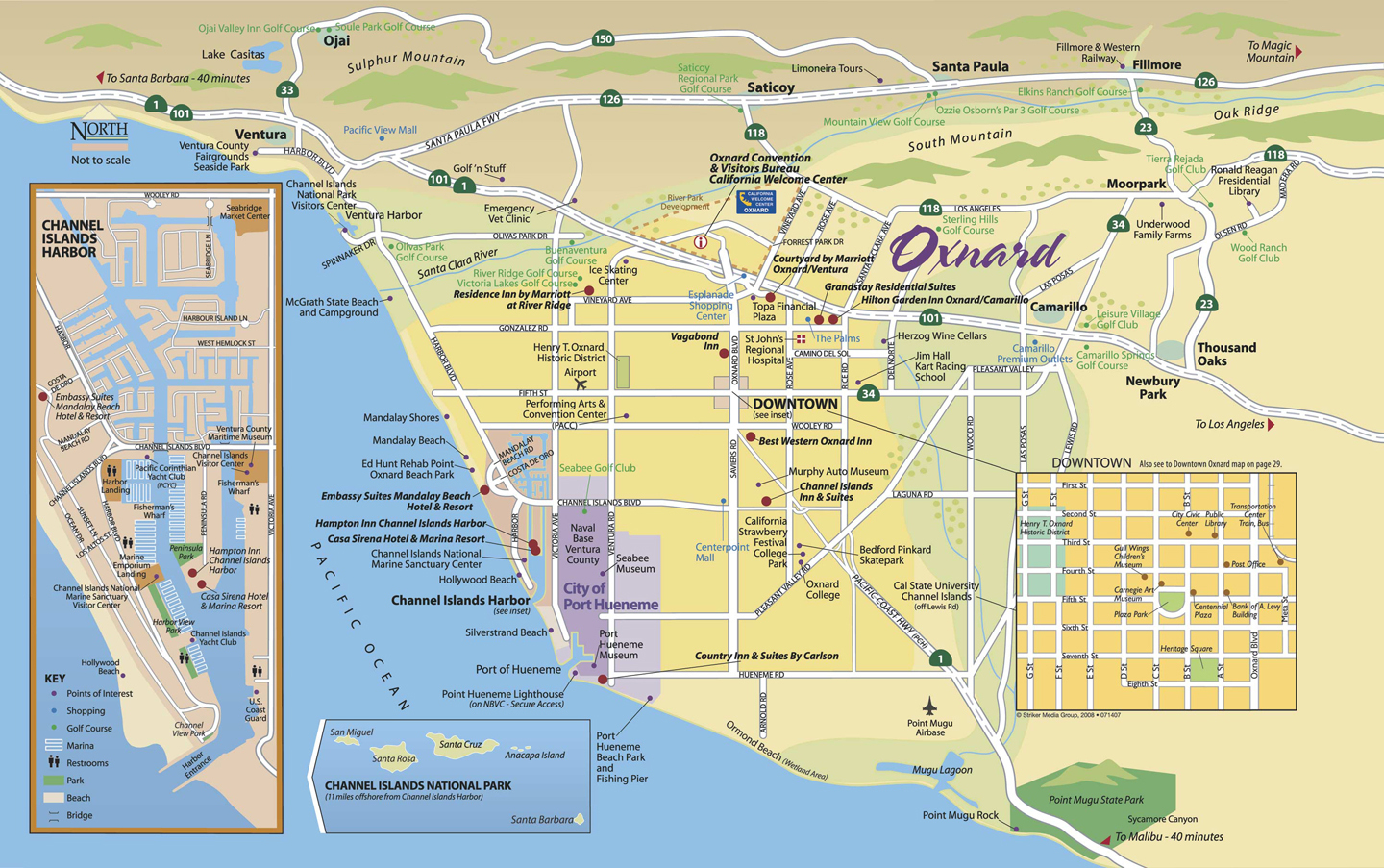 Oxnardareamap California Road Map Where Is Oxnard California On The - Best Western California Map