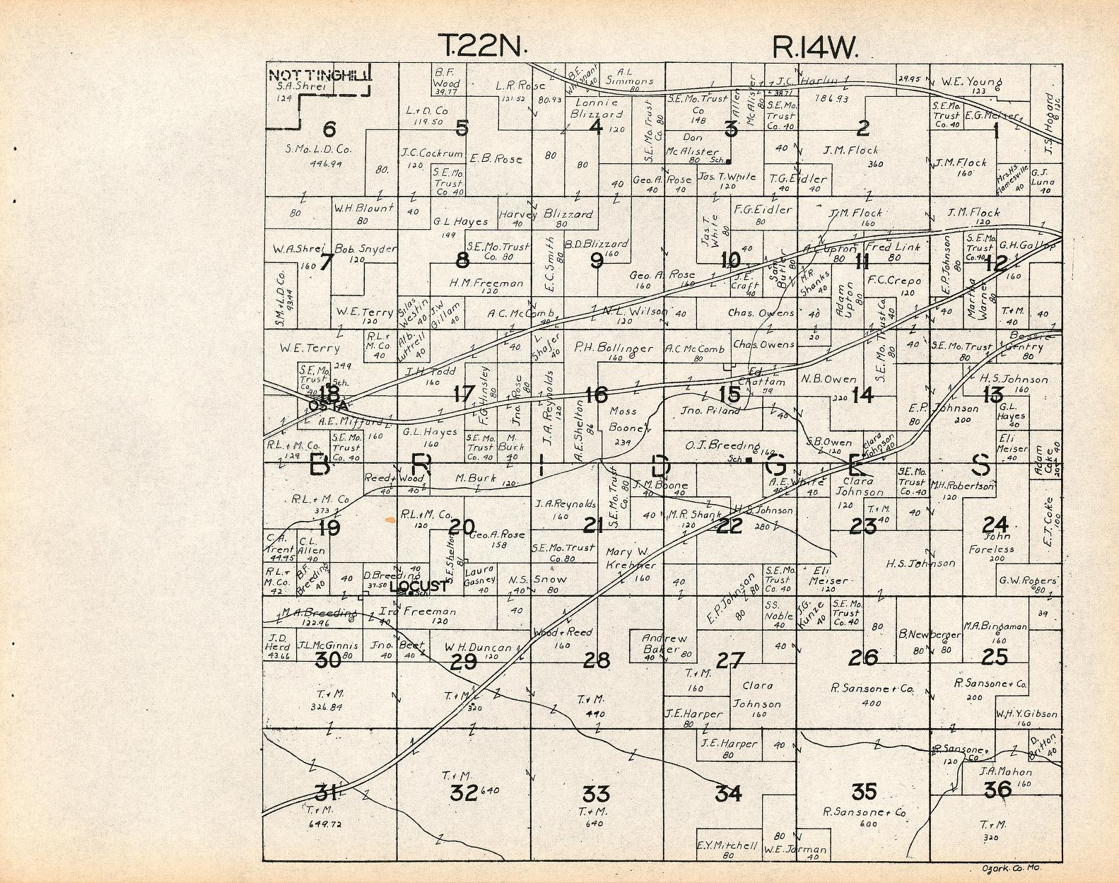 Ozark County, Missouri: Maps And Gazetteers - Howard County Texas Section Map