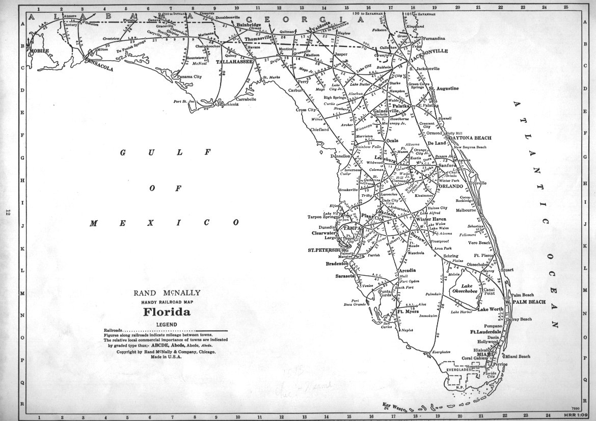 P-Fmsig :: 1948 U.s. Railroad Atlas - Florida Railroad Map