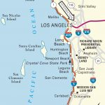 Pacific Coast California Road Map Map Of Southern California Coastal   Map Of Southern California Coastline