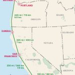 Pacific Coast Highway Driving Distance Map From Moon Pacific Coast   California Oregon Washington Road Map