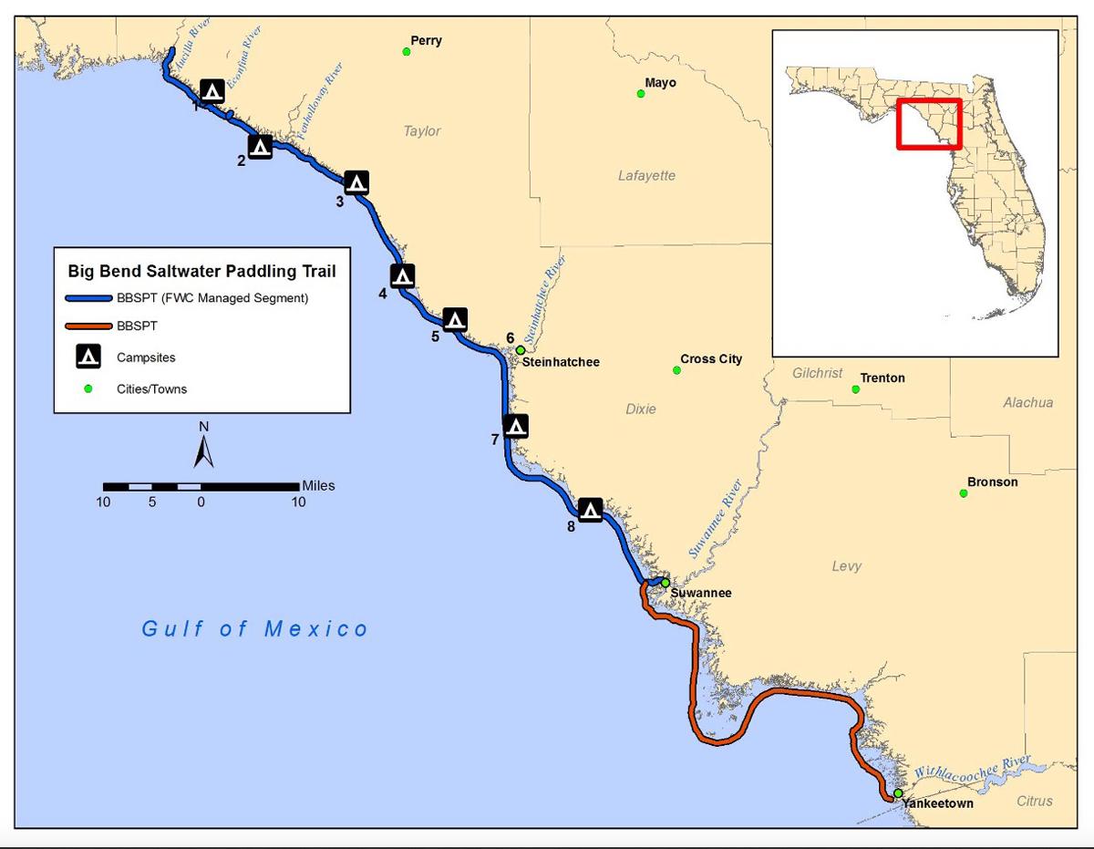 Paddle Natural North Florida's Big Bend Saltwater Paddling Trail - Florida Paddling Trail Maps