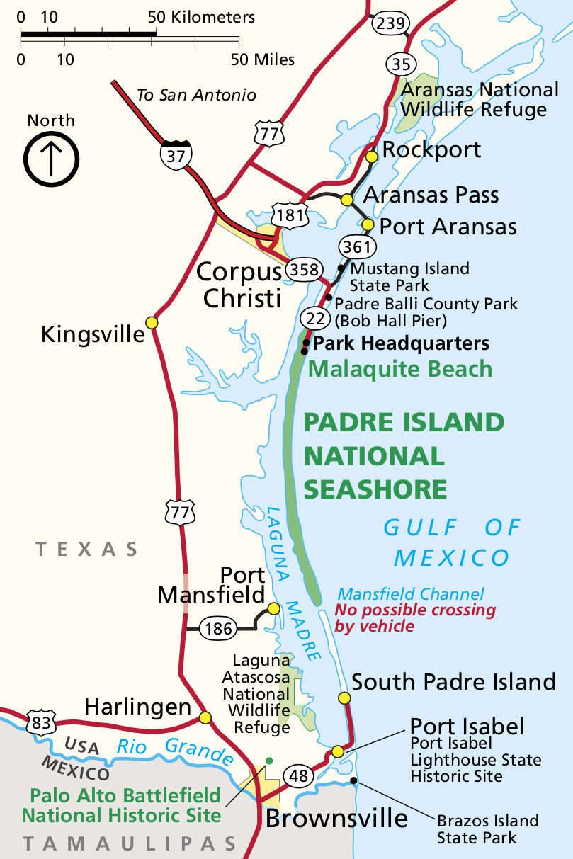 Padre Island Maps | Npmaps - Just Free Maps, Period. - Padre Island Texas Map