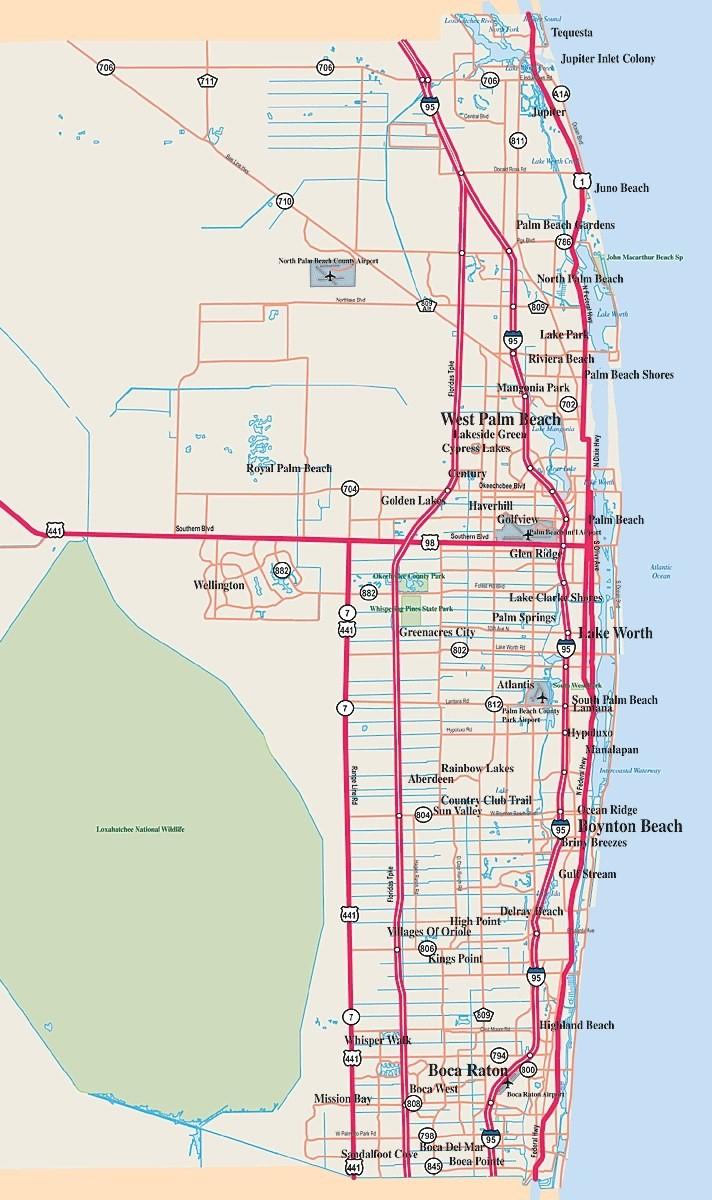 Palm Beach County: The Florida Routine | An American In London - Map Of Palm Beach County Florida