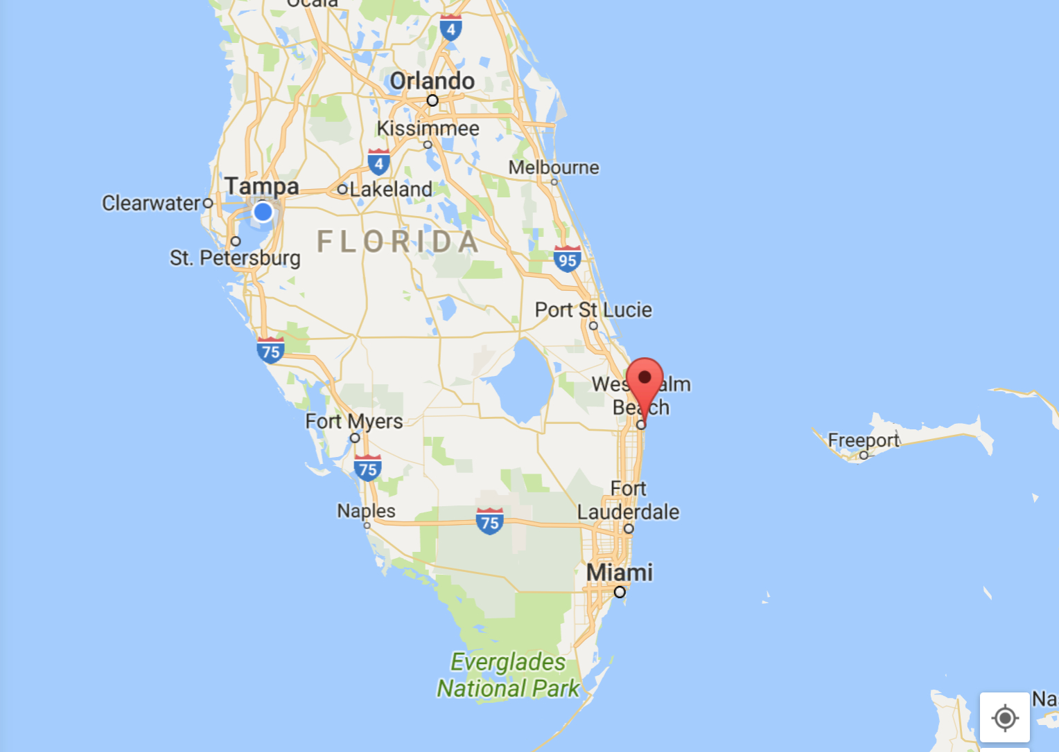 Palm Beach: The Breakers, The Bunker, And The Everglades Club - Seaside Florida Google Maps
