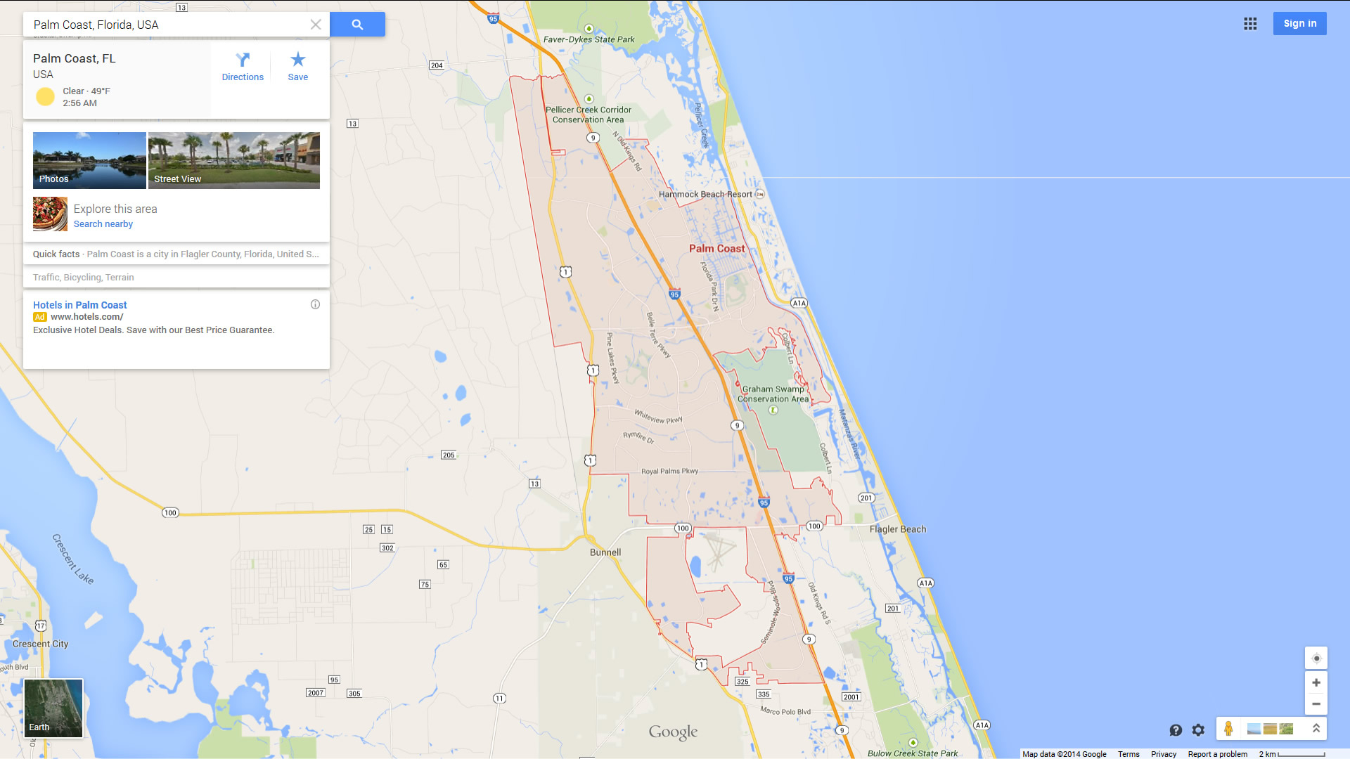 Palm Coast Florida Map - Where Is Palm Coast Florida On The Map