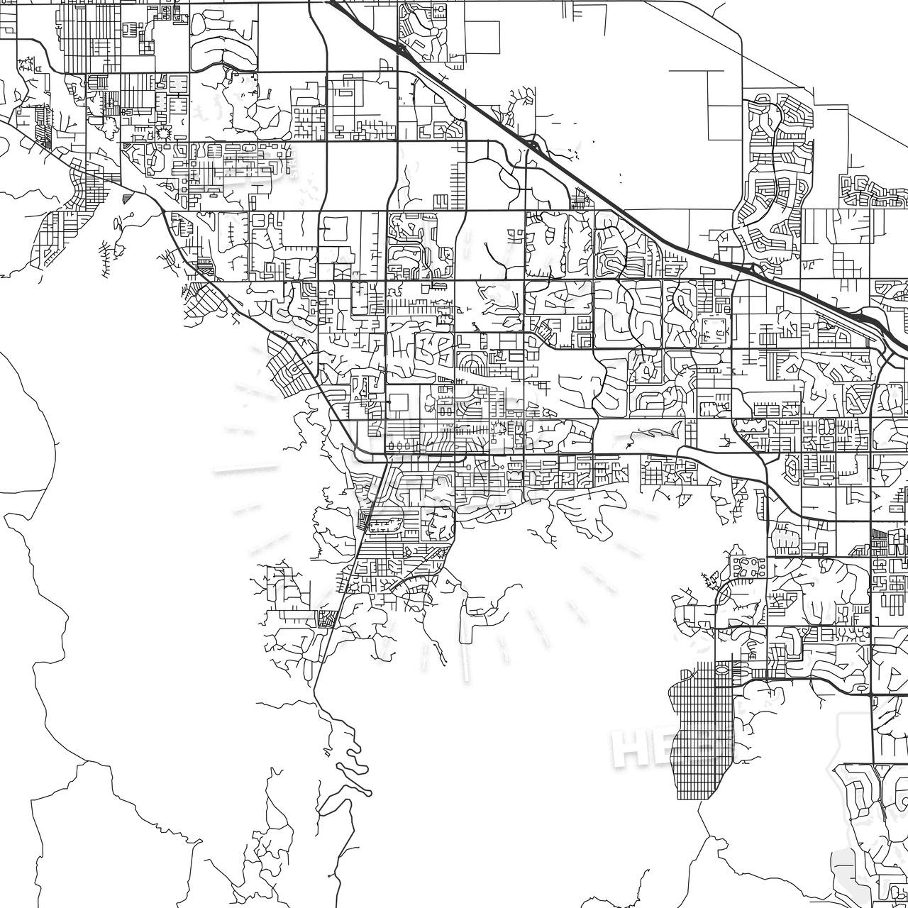 Palm Desert, California - Area Map - Light | Hebstreits Sketches - Where Is Palm Desert California Map
