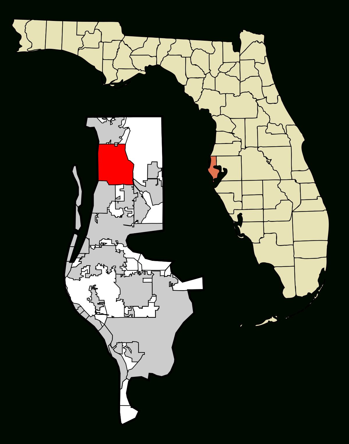 Palm Harbor, Florida - Wikipedia - Where Is Palm Coast Florida On The Map
