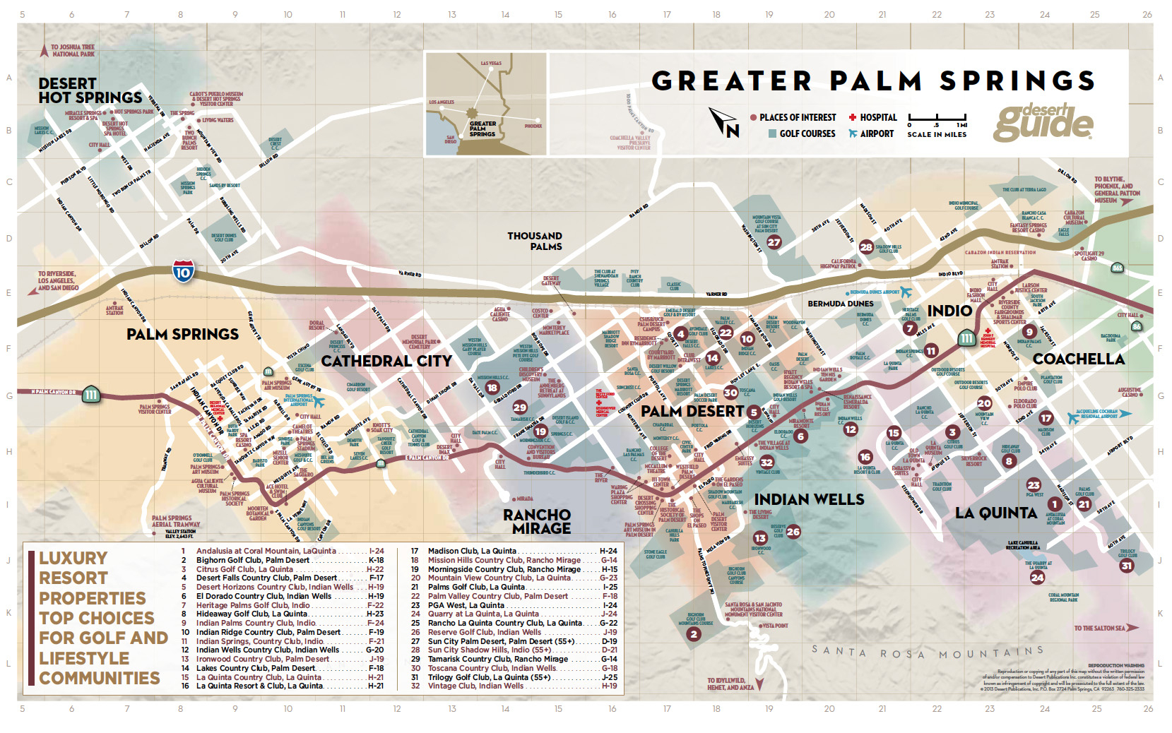 Palm Springs Map Map New Of Map Palm Springs California - Klipy - Map Of Palm Springs California And Surrounding Area
