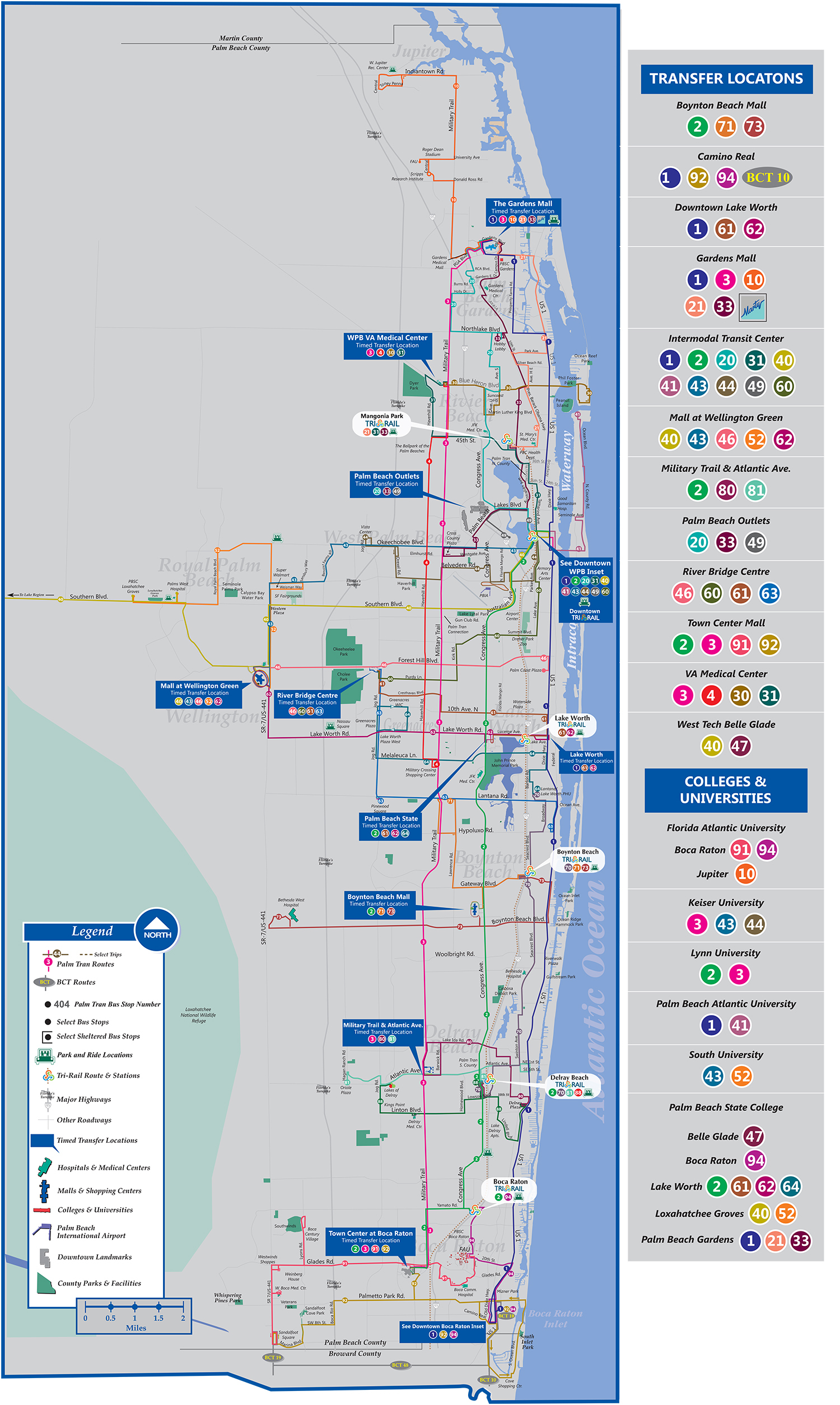 Palm Tran Bus Service - Lake Worth Florida Map