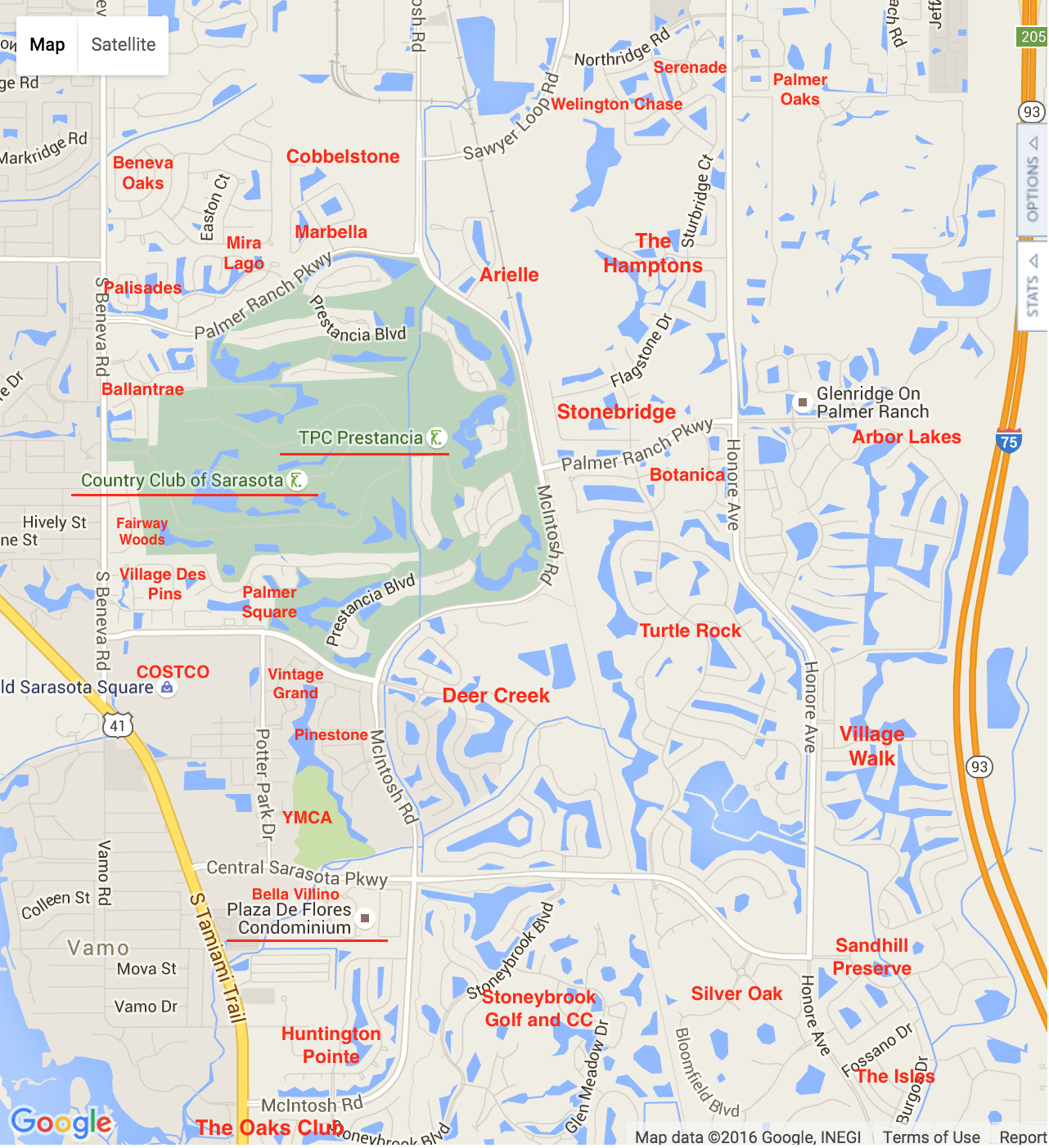 Palmer Ranch Map | Palmer Ranch Neighborhoods - Map Of Sarasota Florida Neighborhoods