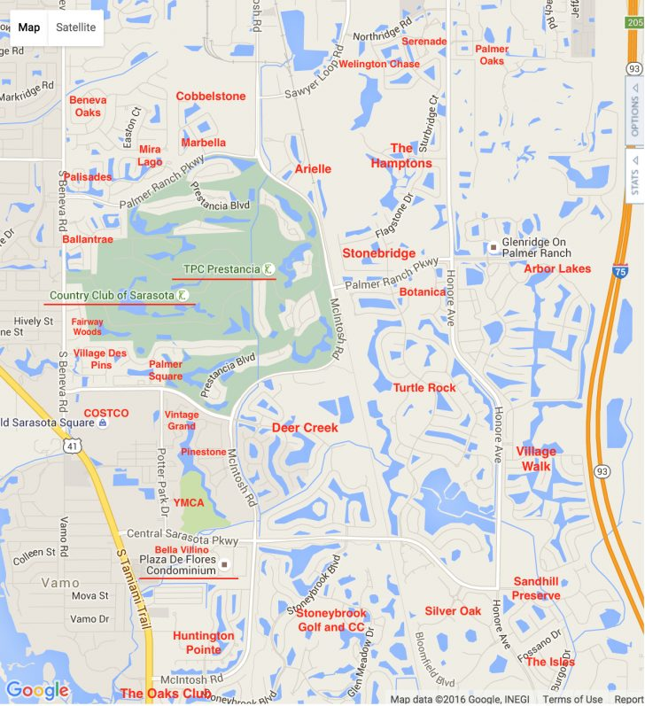 Map Of The Villages Florida Neighborhoods