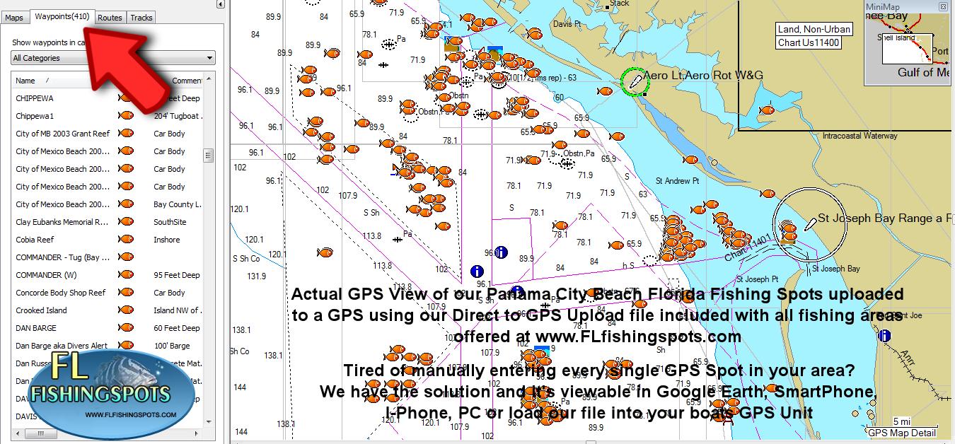 Panama City Florida Fishing Map | Fishing | Panama, Fishing Maps, Fish - Florida Fishing Map