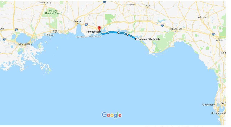 Panhandle Florida Map 19 Panama City To Pensacola - Bobsmiley - Panama City Florida Map Google