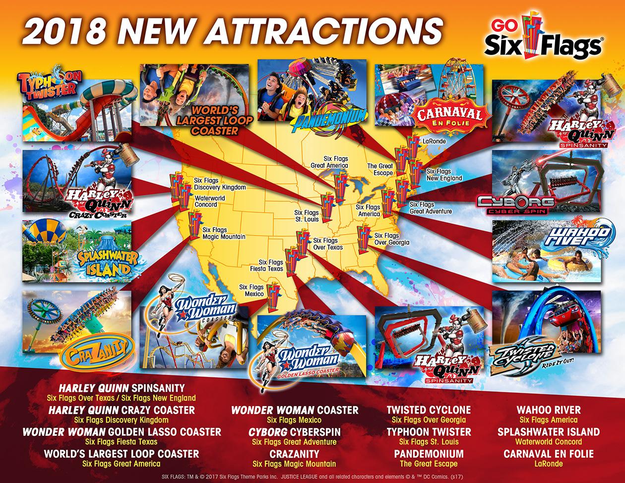 Parcplaza: Les Parcs Six Flags Annoncent Leurs Nouveautés 2018 - Six Flags Fiesta Texas Map 2018