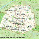 Paris Arrondissements Map   Printable Map Of Paris Arrondissements