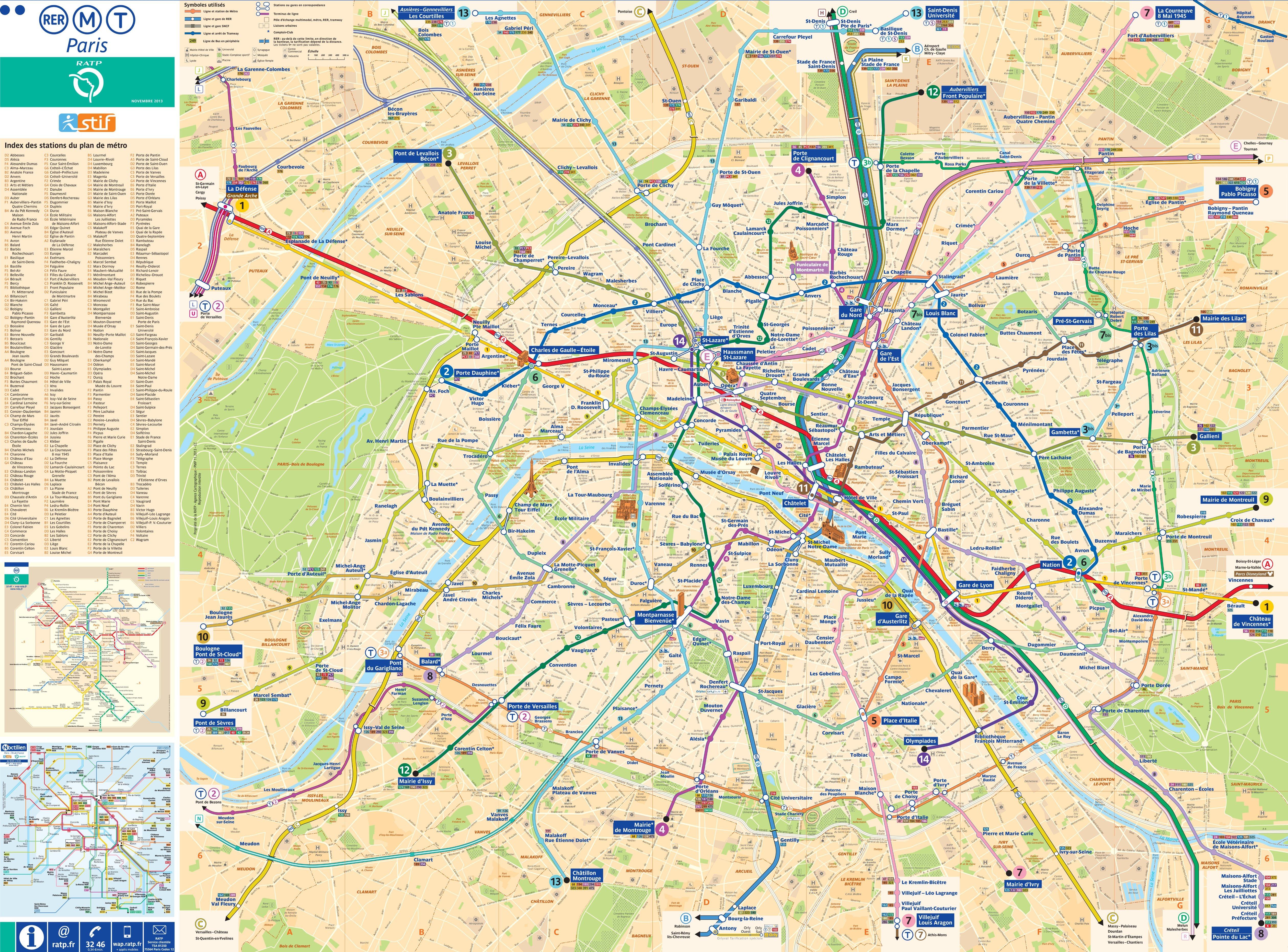 Paris Maps | France | Maps Of Paris - Printable Map Of Paris Attractions