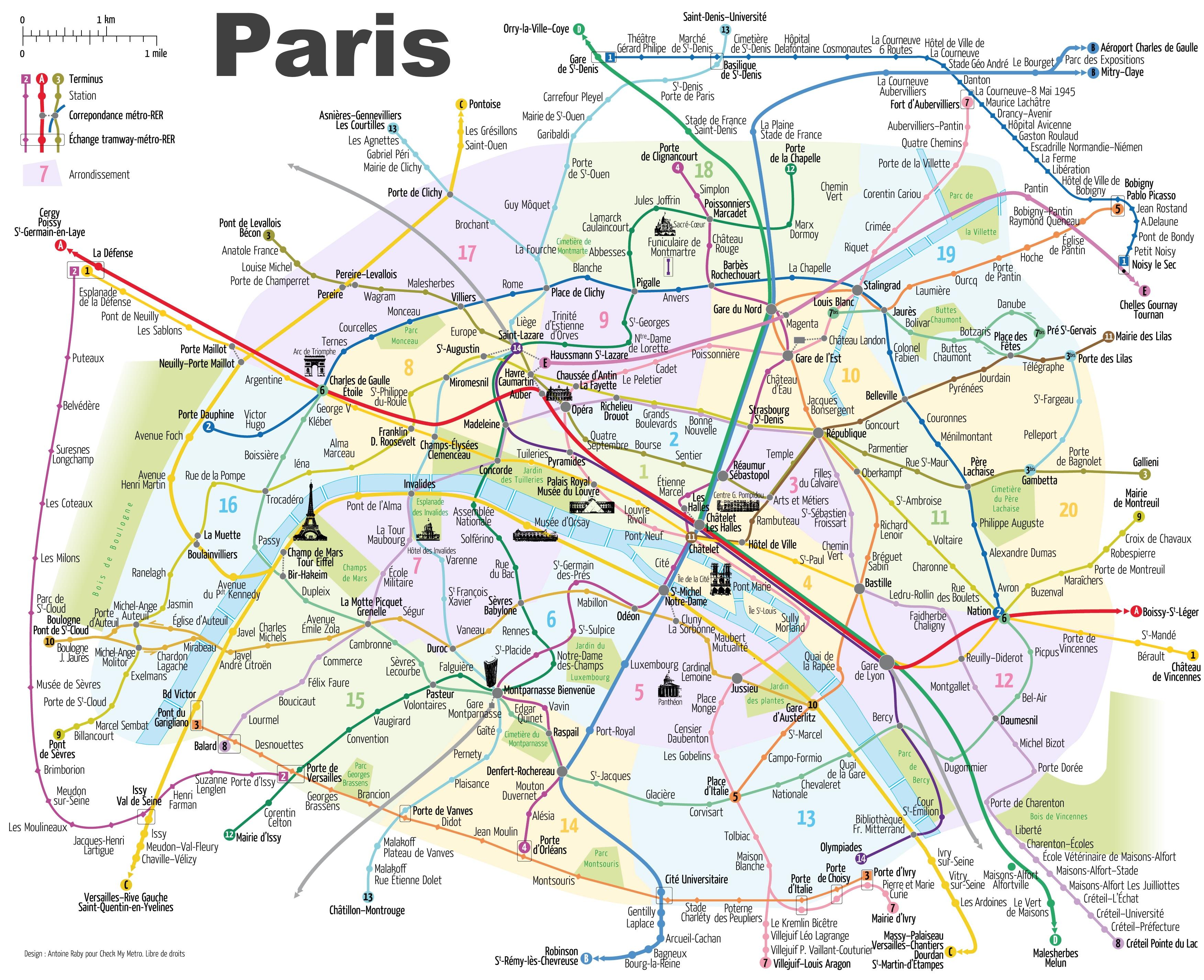 Paris Maps | France | Maps Of Paris - Printable Map Of Paris France