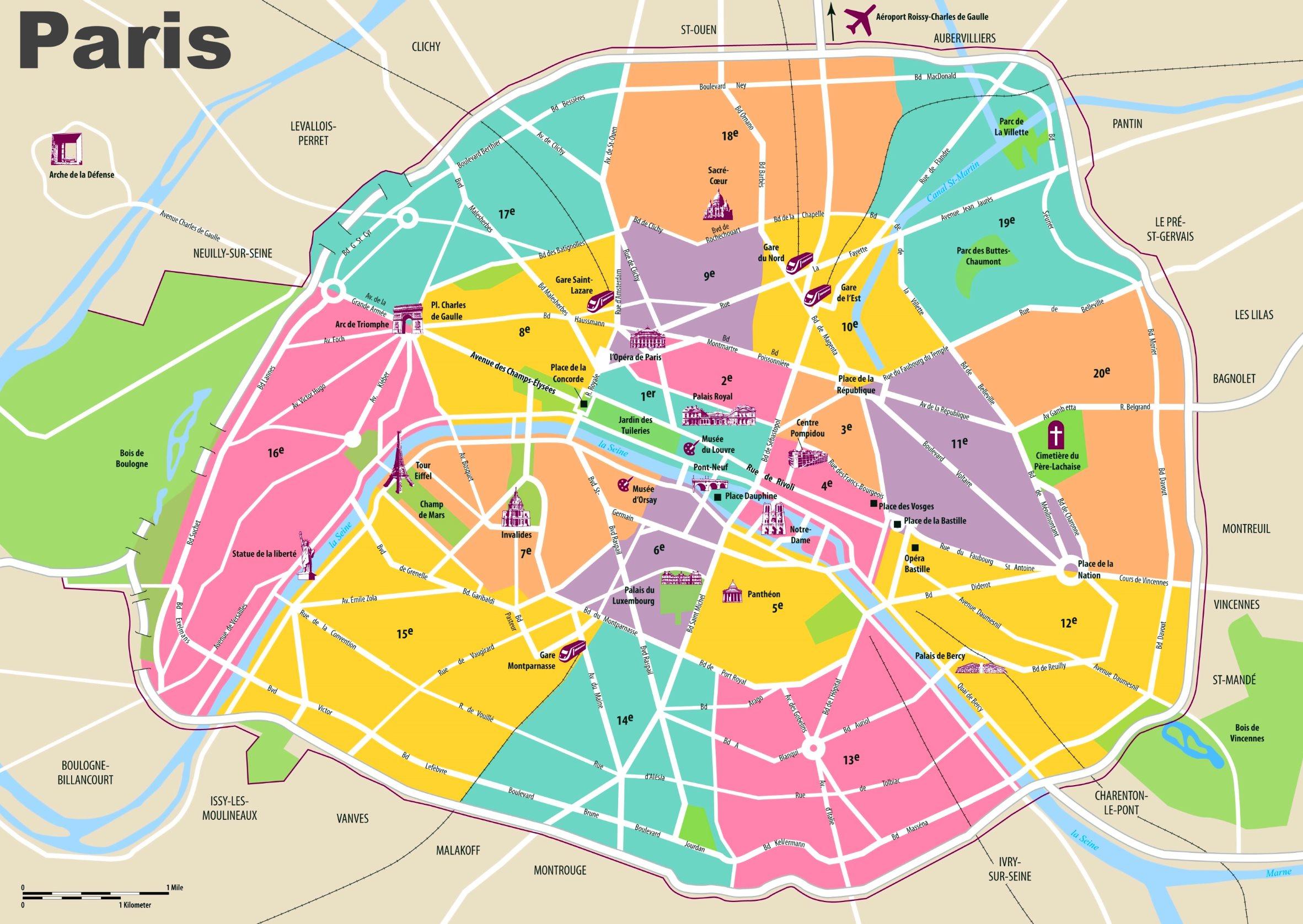Paris Maps | France | Maps Of Paris - Printable Map Of Paris