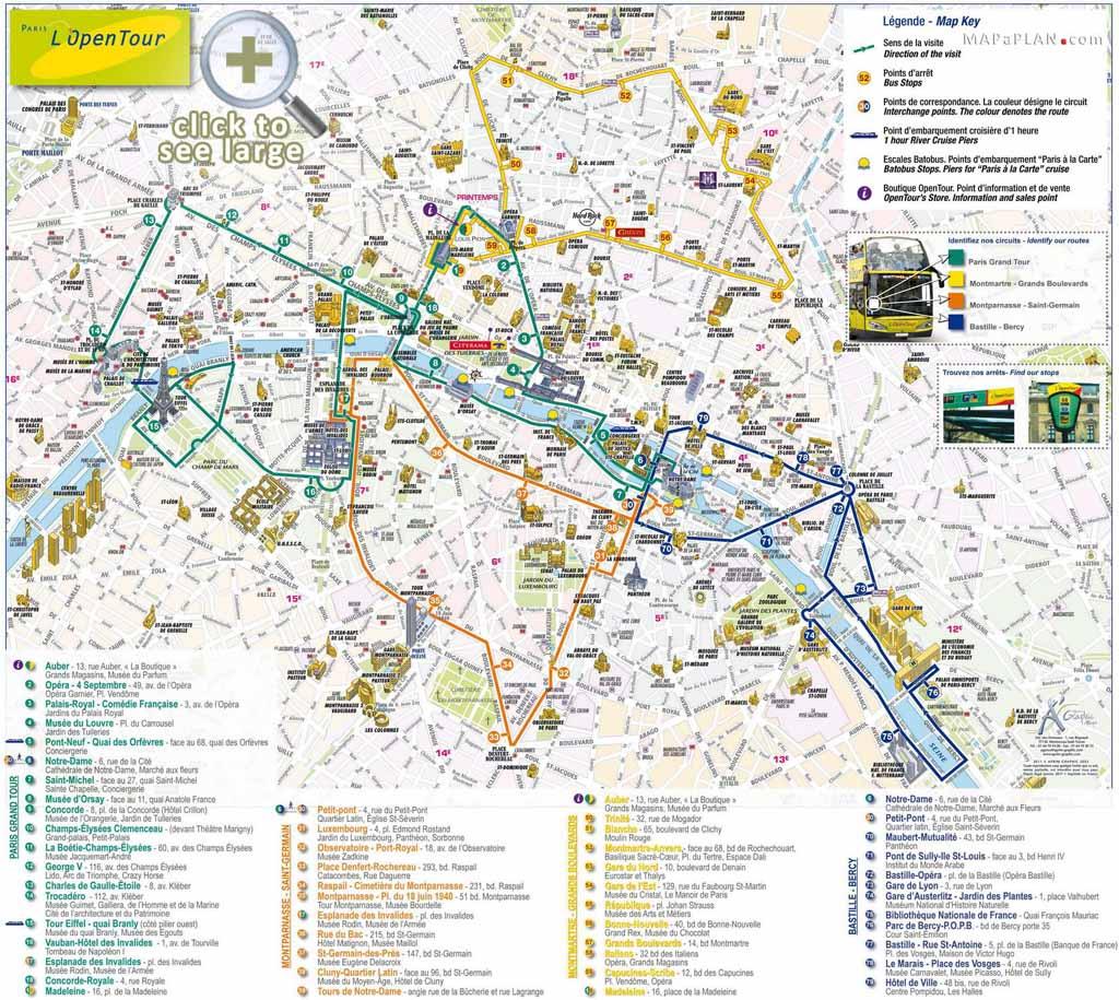 Paris Maps - Top Tourist Attractions - Free, Printable - Mapaplan - Paris Map For Tourists Printable