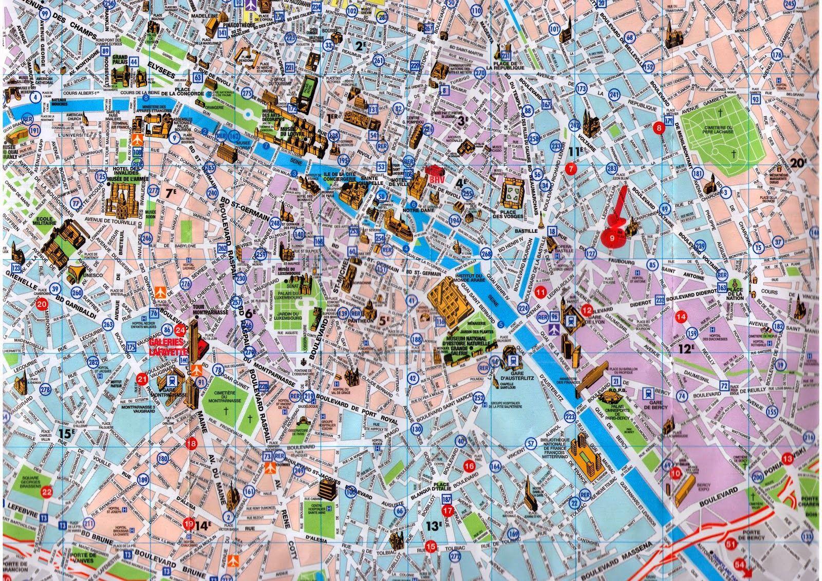 Paris Tarihi Harita   My Style My House - Ev Dekorasyon Fikirleri Ve - Printable Map Of Paris City Centre
