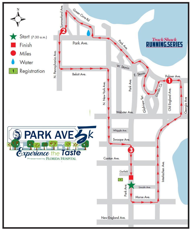 Park Ave 5K - Winter Park, Fl - Winter Park Florida Map